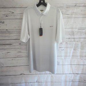 Greg Norman Shark Play Dry Lt Gray Polo Shirt NWT